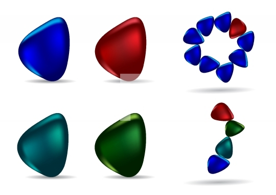 Different colored stones - vector illustration