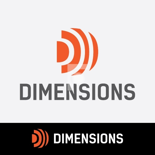 Dimensions D Letter Logo Readymade for Startups Royalty Free
