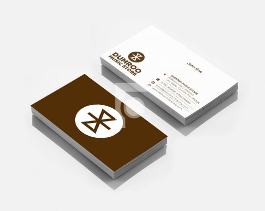 Dumroo Music Store Logo Design & Business Card Template