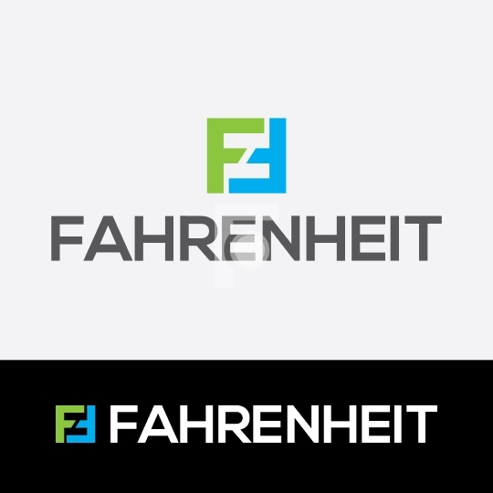 F letter Logo - Fahrenheit Readymade Company Logo Design Template (AI, PDF & EPS included)