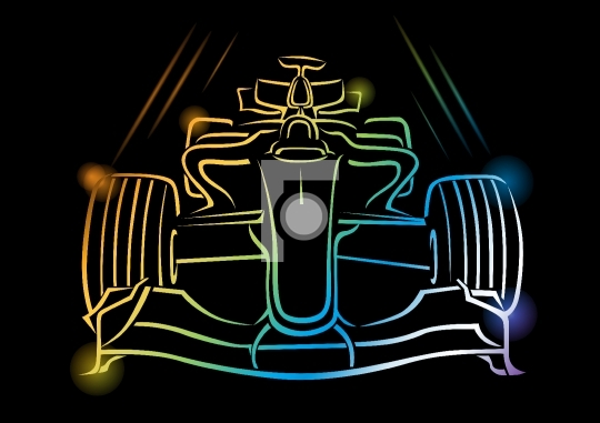 Formula 1 Car Vector Illustration - Stock Photo