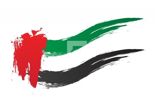 Free Vector UAE Flag Vector Brush Strokes - United Arab Emirates