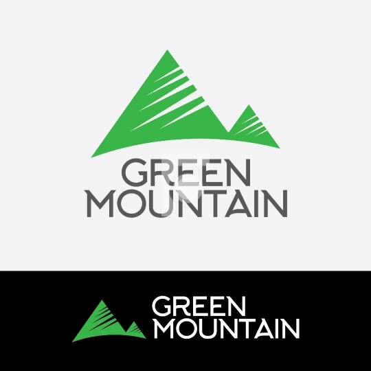Green Mountain Sports Readymade Company Logo Design Template