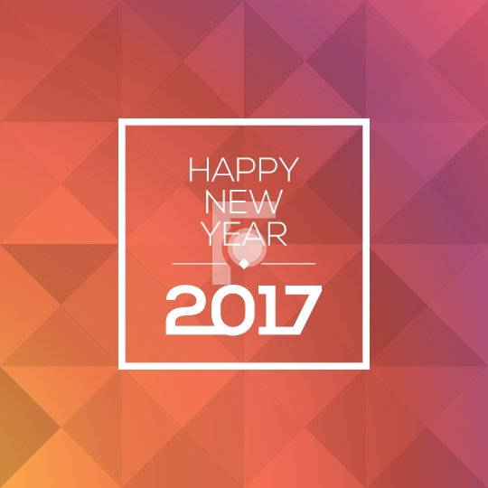 Happy New Year 2017 Free Vector Design
