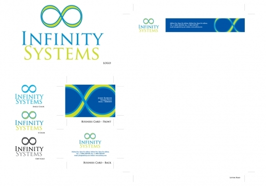 Infinity Systems Logo and Stationery Designs - Vector