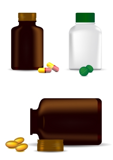 Medicine bottles, capsules and pills