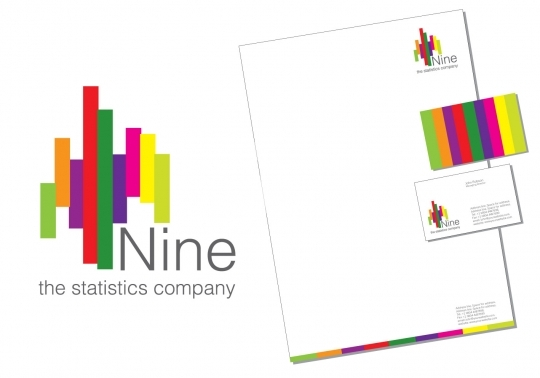 Nine Statistics Logo - Print Ready Business Stationery