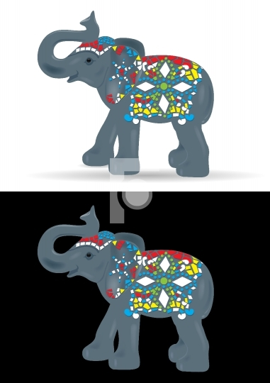 Ornamental Elephant Vector Illustration