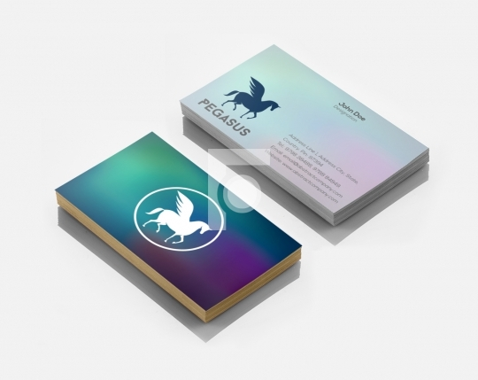 Pegasus Logo Design & Business Card Template for Startups