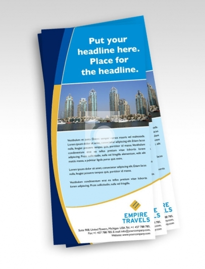 Print Ready Template DL Size - Travel Agency Flyer