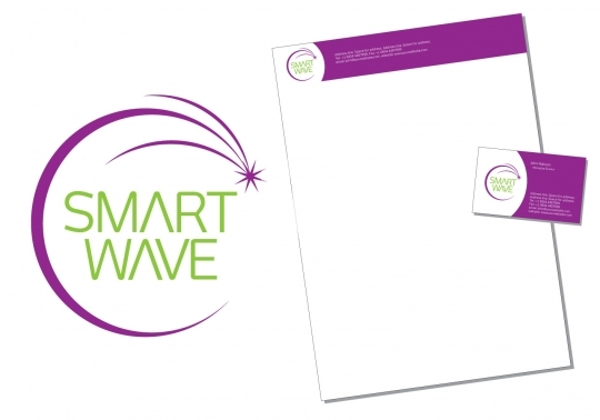 Smart Wave Logo and Corporate Identity - Exclusive License