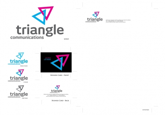 Triangle Logo with corporate identity