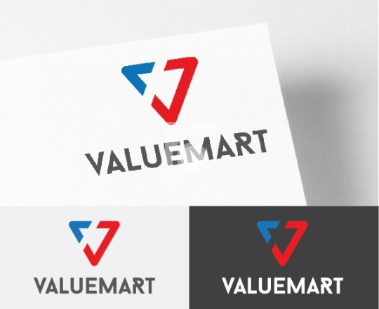 ValueMart - Readymade Logo with V Letter Royalty Free