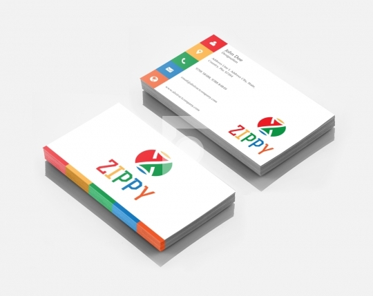 Z Letter Zippy Logo Design & Business Card Template for Startups